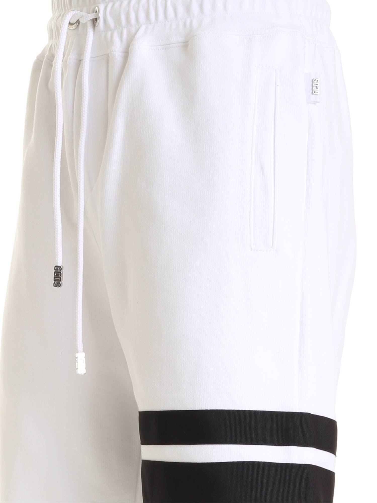 GCDS XCIV EMBROIDERY SHORTS IN WHITE