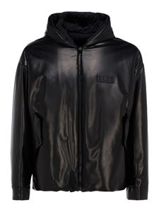 Valentino - VLTN leather padded jacket in black