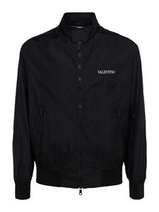 Valentino - Tech fabric bomber jacket in black