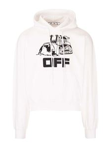 Off-White - Caterpillar hoodie in white