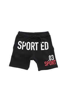 Dsquared2 - Fleece bermuda shorts in black