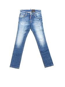 Dsquared2 - Skater Jean destroyed effect jeans in blue