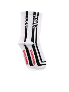 GCDS - Socks with logo in white
