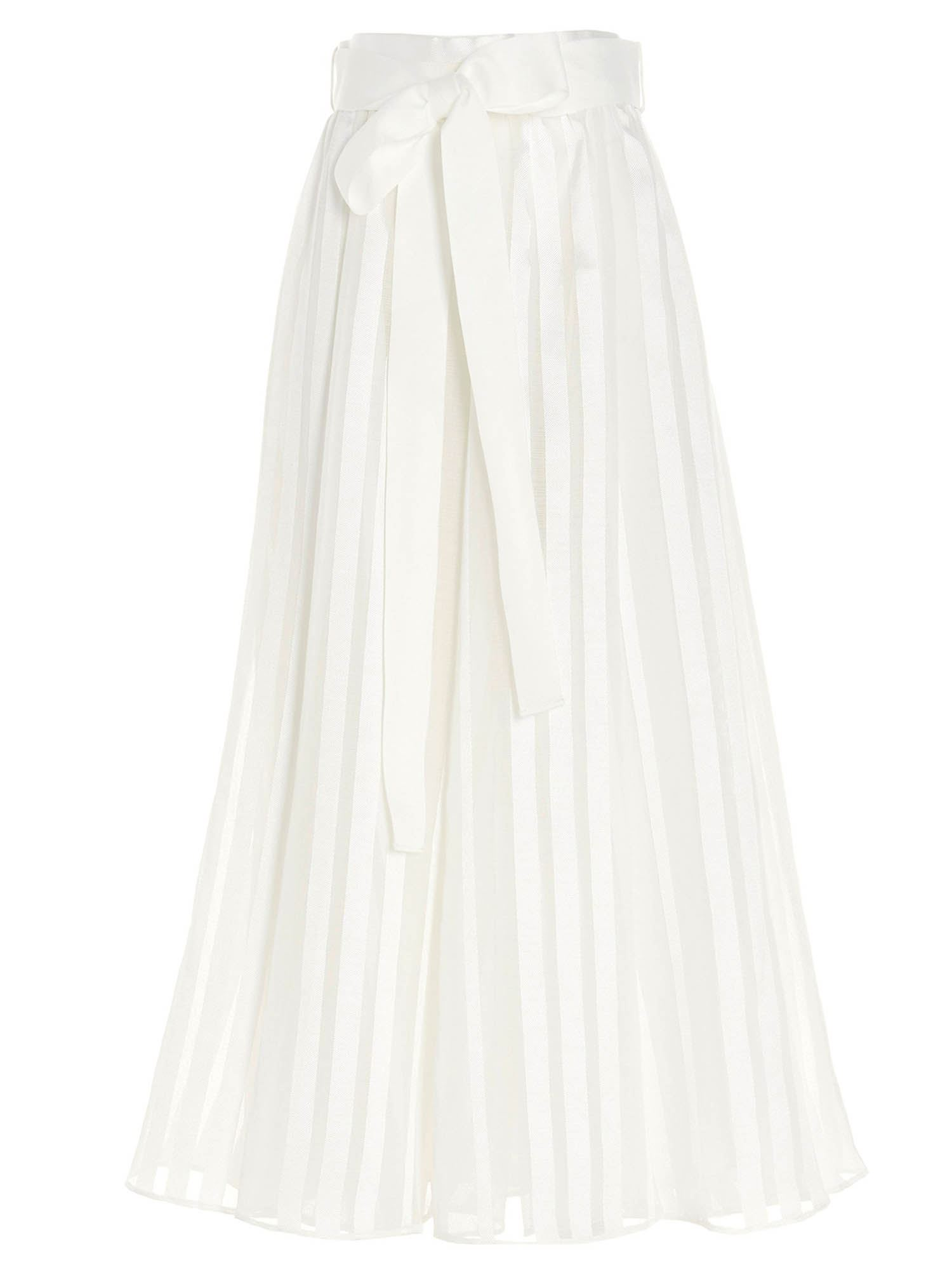 Zimmermann THE LOVESTRUCK BURNOUT SKIRT IN WHITE