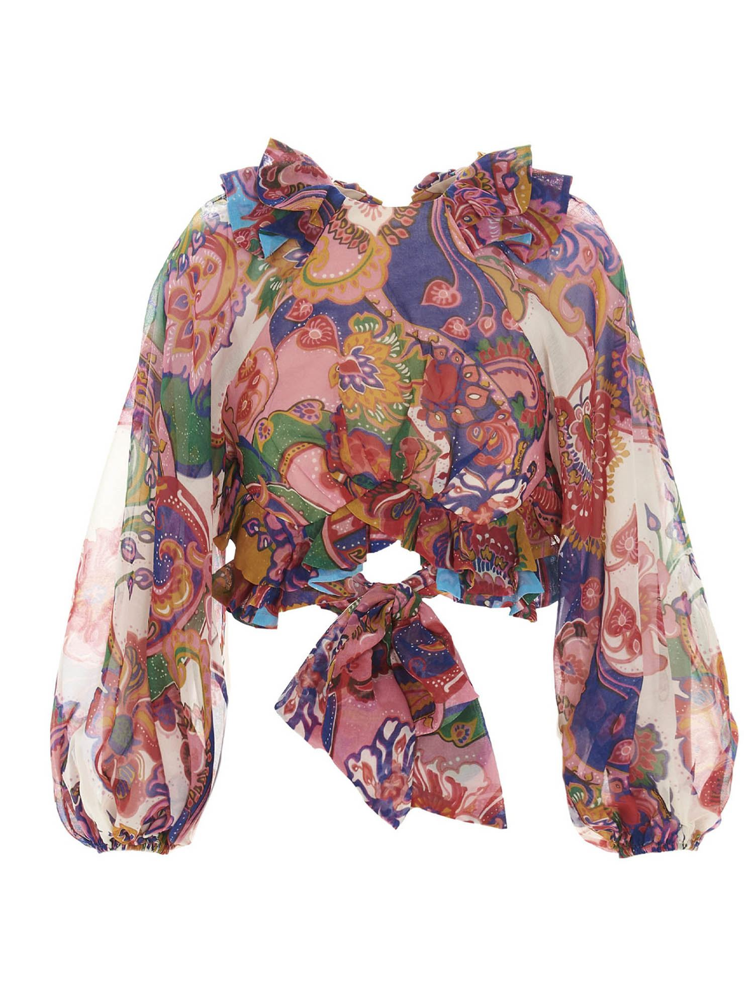 Zimmermann THE LOVESTRUCK TIE BODICE TOP IN MULTICOLOR