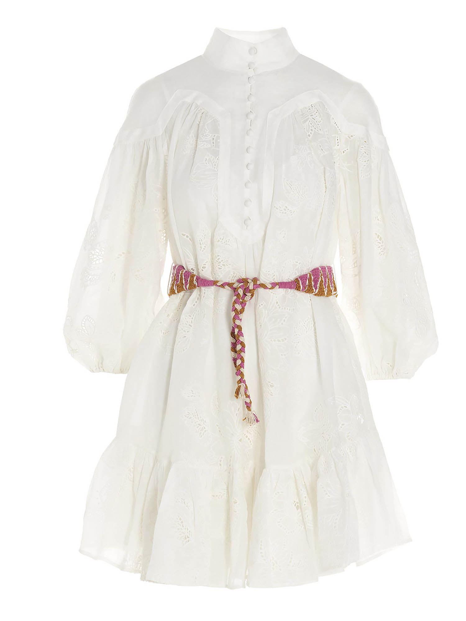 Zimmermann RIDERS MINI DRESS IN WHITE