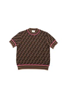 Fendi Jr - Top FF Knit Zucca Pop Magenta