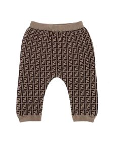 Fendi Jr - FF pants in brown