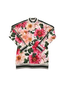 Dolce & Gabbana Jr - Floral print sweatshirt in shades of pink