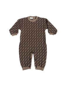 Fendi Jr - Tutina con logo FF all over