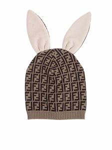 Fendi Jr - Bunx beanie in brown