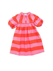 Stella McCartney Kids - Striped dress in red and pink