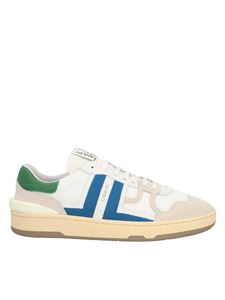 Lanvin - Clay low sneakers in white and blue