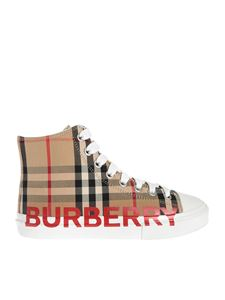 Burberry - Sneakers high top Mini Larkhall beige
