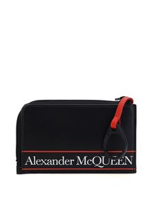 Alexander McQueen - Logo tape card holder in black