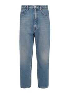 Balenciaga - Vintage effect denim jeans in light blue