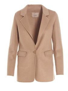 Twin-Set - Double cloth jacket in camel color
