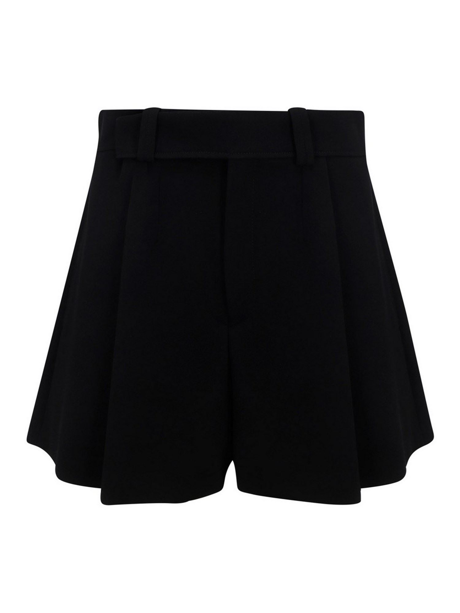 Chloé COTTON BERMUDA SHORTS IN BLACK