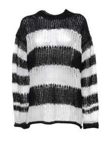 Kenzo - Mmohair blend sweater in black and white