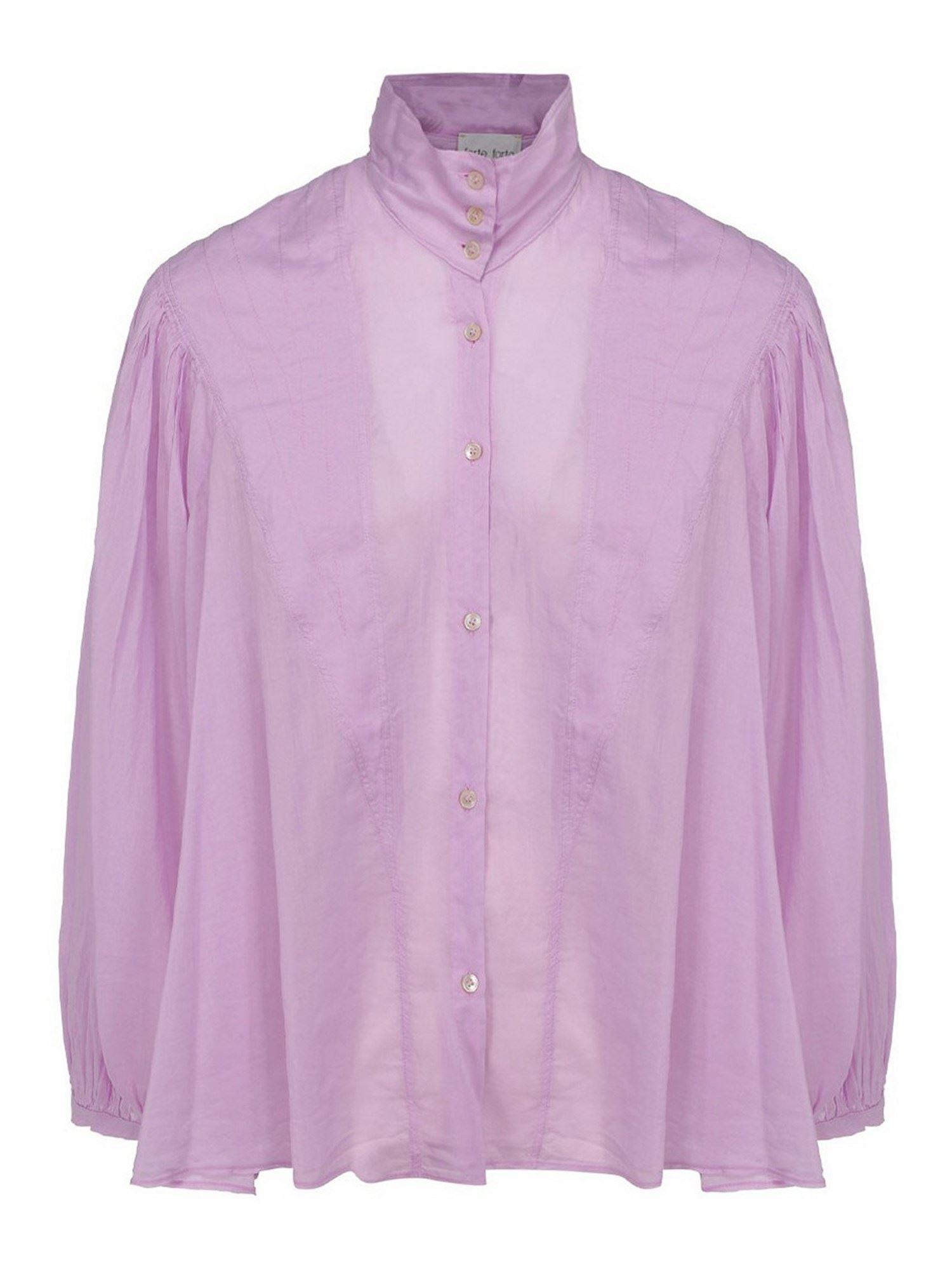 Forte Forte COTTON SILK BLEND SHIRT IN LILAC