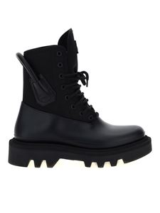 Givenchy - Back loop combat boots in black