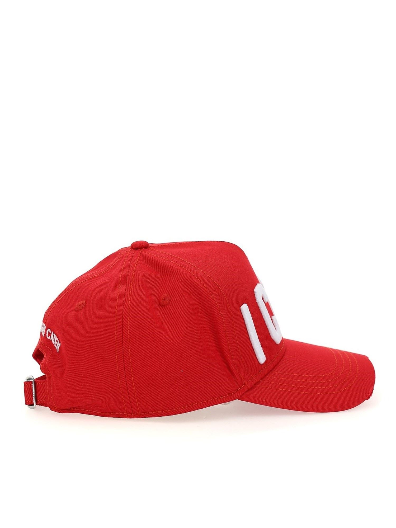 Dsquared2 ICON BASEBALL HAT IN RED