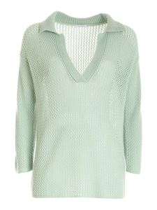 malo - Cashmere sweater in green