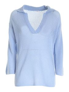 malo - Cashmere sweater in light blue