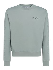 Off-White - Swimming Man logo sweatshirt in grey