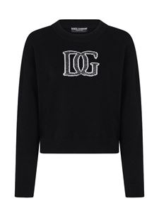 Dolce & Gabbana - Inlaid logo pullover in black