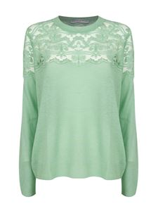 Ermanno Scervino - Lace insert sweater in green