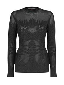 Ermanno Scervino - Tattoo embroidery t-shirt in black