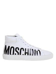 Moschino - Sneakers hig top bianche
