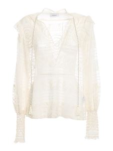 Dondup - Embroidered blouse in white