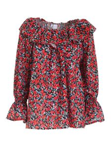 Gaelle Paris - Floral print blouse in red