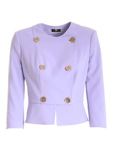 Elisabetta Franchi - Double-breasted jacket in purple lilac