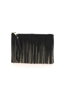 Gum Gianni Chiarini - Fringed clutch in black
