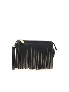 Gum Gianni Chiarini - Fringed shoulder bag in black