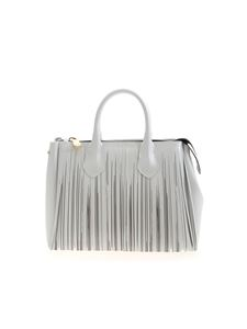 Gum Gianni Chiarini - Fringes bag in pearl white