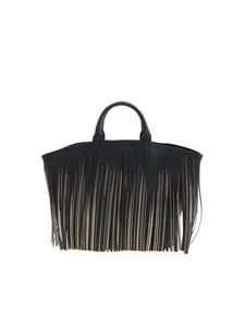 Gum Gianni Chiarini - Fringes handbag in black