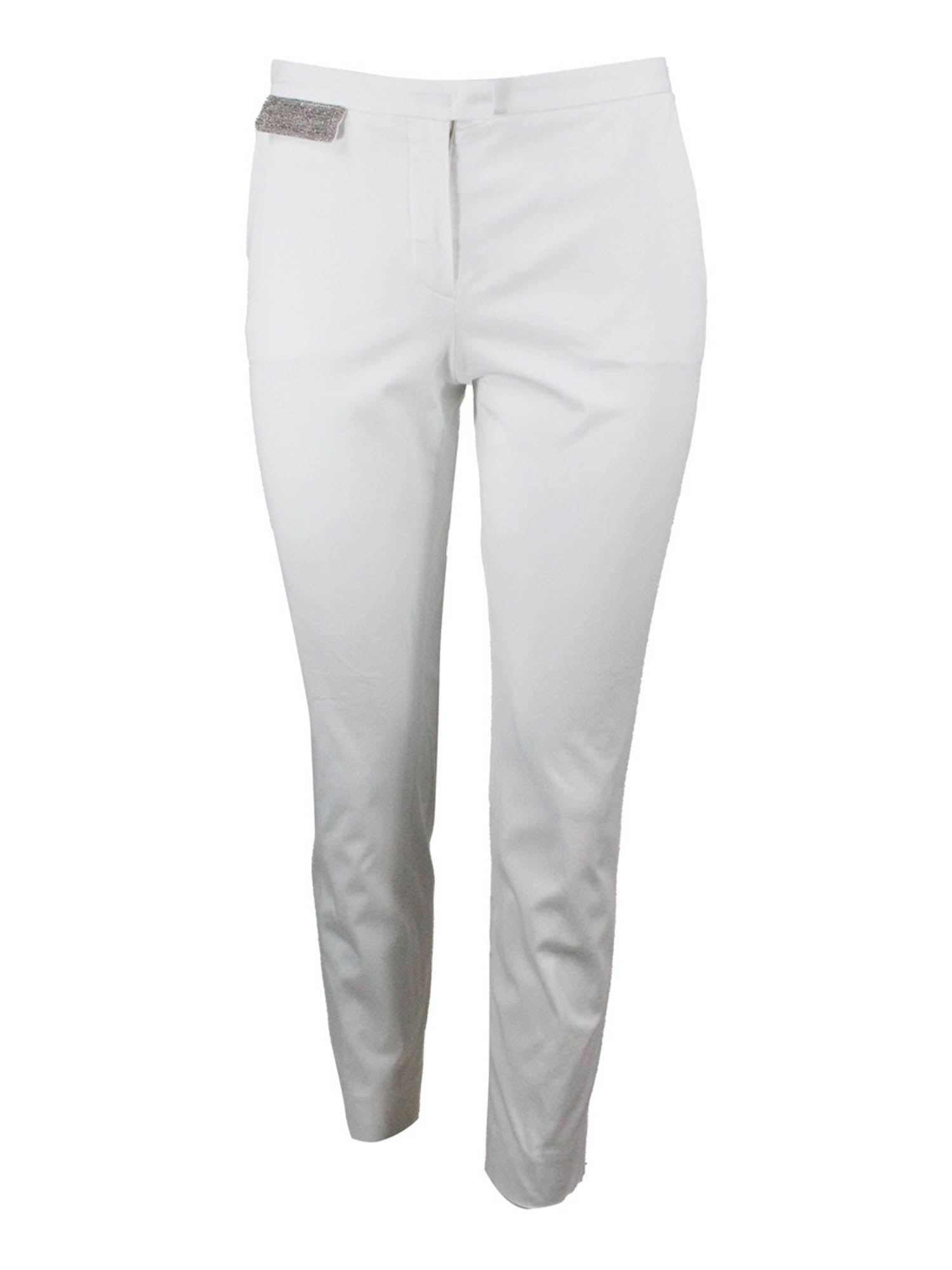 Fabiana Filippi MONILE FLAP PANTS IN WHITE