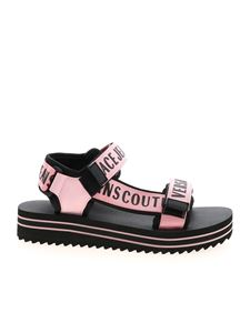 Versace Jeans Couture - Branded velcro sandals in black