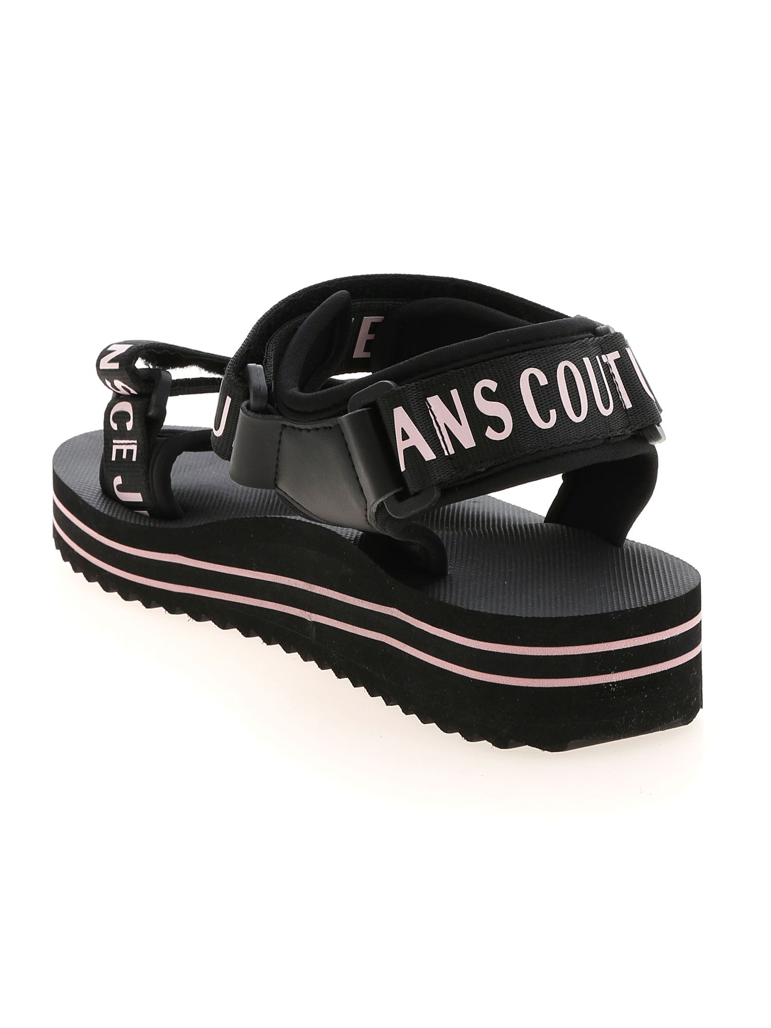 VERSACE JEANS COUTURE Sandals BRANDED VELCRO SANDALS IN BLACK