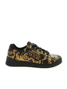 Versace Jeans Couture - Baroque print sneakers in black