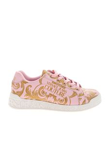 Versace Jeans Couture - Baroque print sneakers in pink