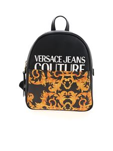 Versace Jeans Couture - Baroque logo backpack in black