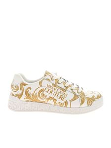 Versace Jeans Couture - Baroque print sneakers in white