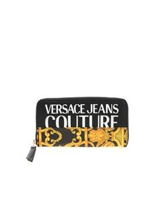 Versace Jeans Couture - Baroque logo wallet in black