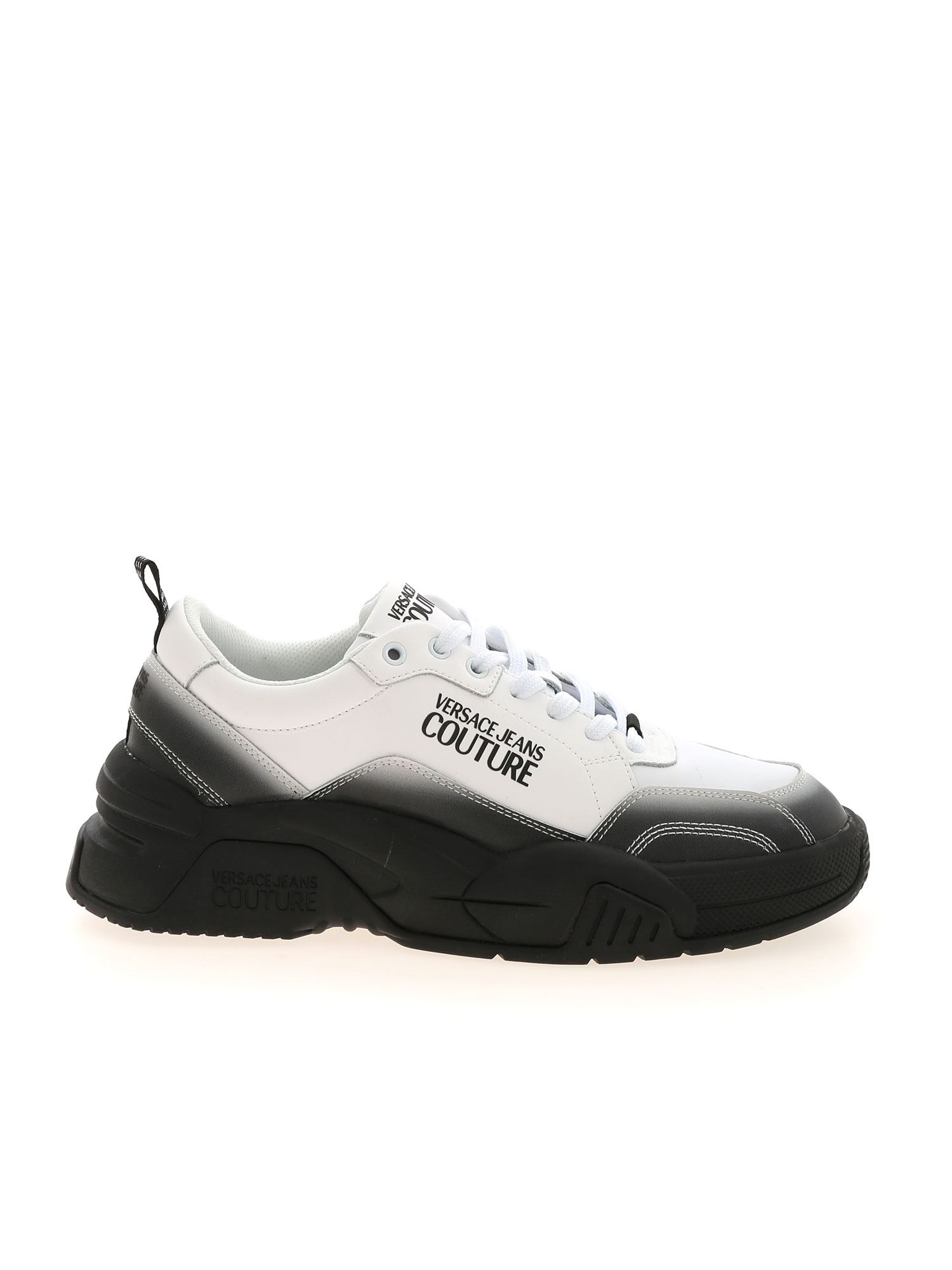 Versace Jeans Couture LOGO SNEAKERS IN BLACK AND WHITE