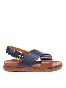 Marni - Fussbett sandals in brown and blue